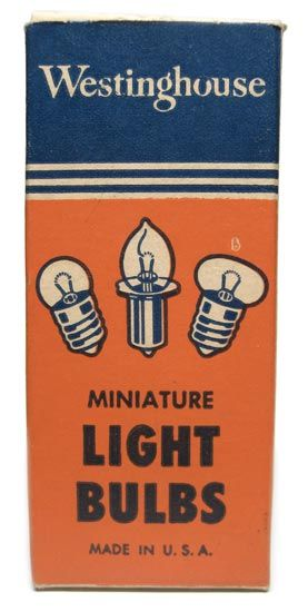 Miniature light bulbs, vintage packaging