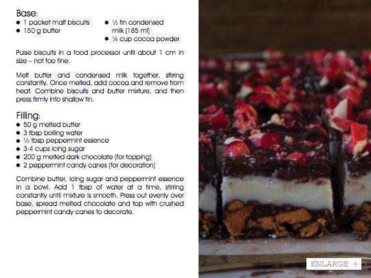 Chocolate Peppermint Slice | Vudu Cafe Queenstown