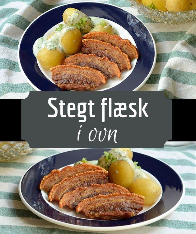 Fantastisk opskrift på stegt flæsk i ovn - en meget nemmere fremgangsmåde, som stadig giver et sprødt og saftigt resultat. Og så serveres det selvfølgelig med persillesovs.