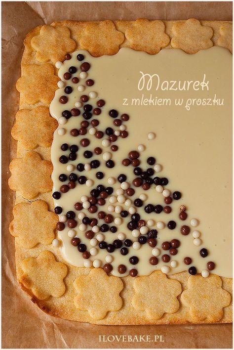 Mazurek z mlekiem w proszku ilovebake.pl #easter #recipes #pie #bars