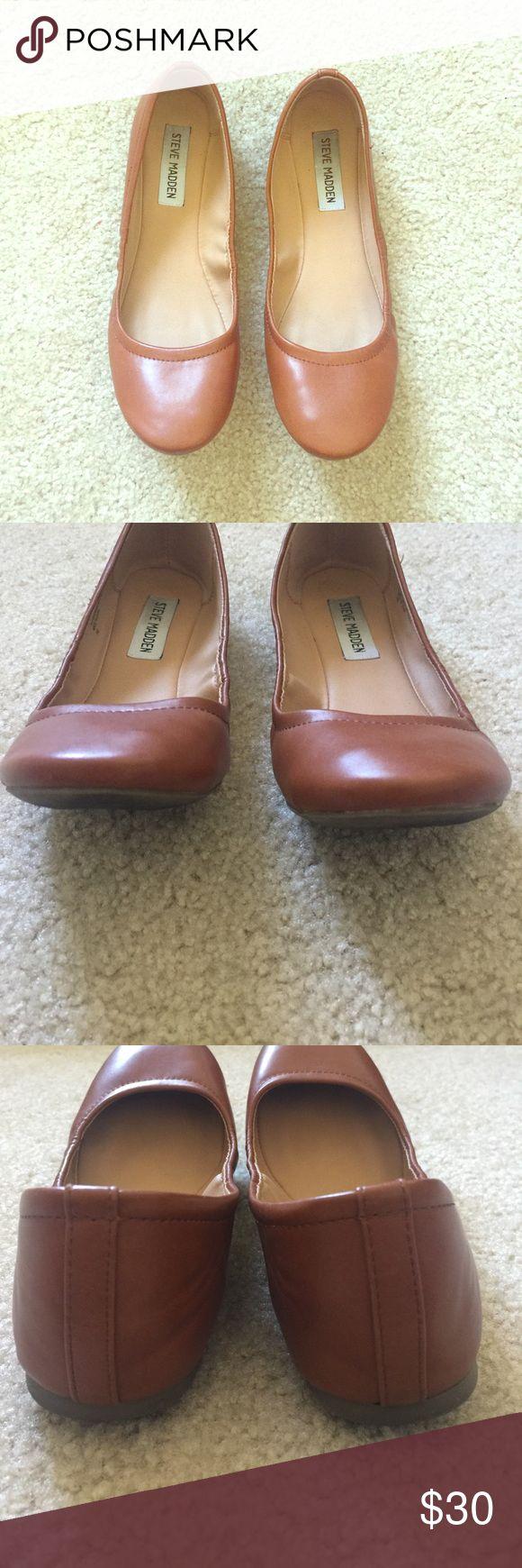 Steve Madden Tan Brown Ballet Flats Excellent condition! No scuffs. Only worn twice. Make an offer! Steve Madden Shoes