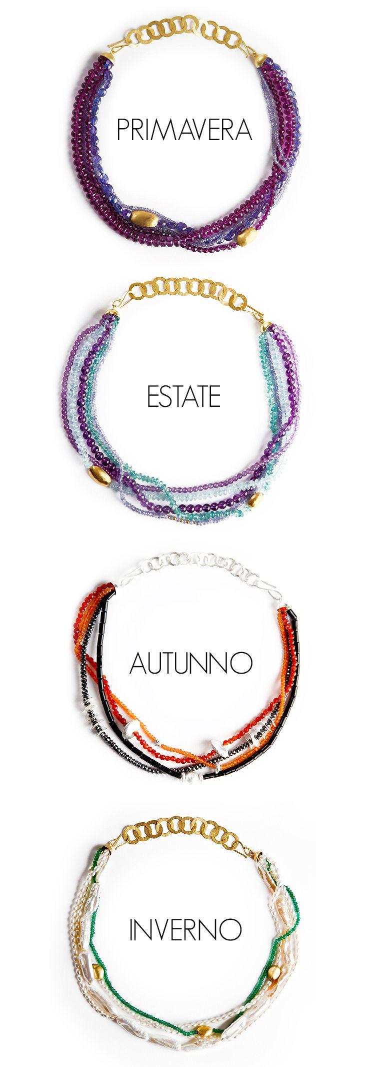 An exquisite sensation for every season. - Quattro Stagioni da indossare. #FourSeason #Season #quattro #stagioni #Collane #Necklaces #Gioielli #Jewellery