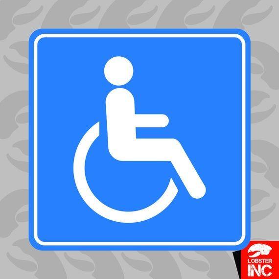 Handicap Sticker Self Adhesive Vinyl Wheelchair Accessible Etsy In 2020 Adhesive Vinyl Vinyl Handicap