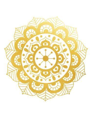 Tatuaje efímero dorado - Modelo Mandala Flor