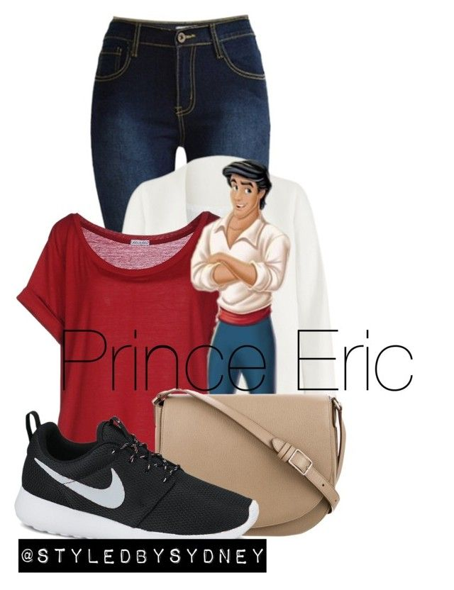 """Fall Prince Eric ; THE LITTLE MERMAID"" by styledbysydney ❤ liked on Polyvore featuring Non, Kor@Kor, CÉLINE and NIKE"
