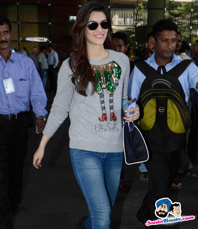 Dilwale Cast Spotted at Airport -- Kriti Sanon Picture # 324770