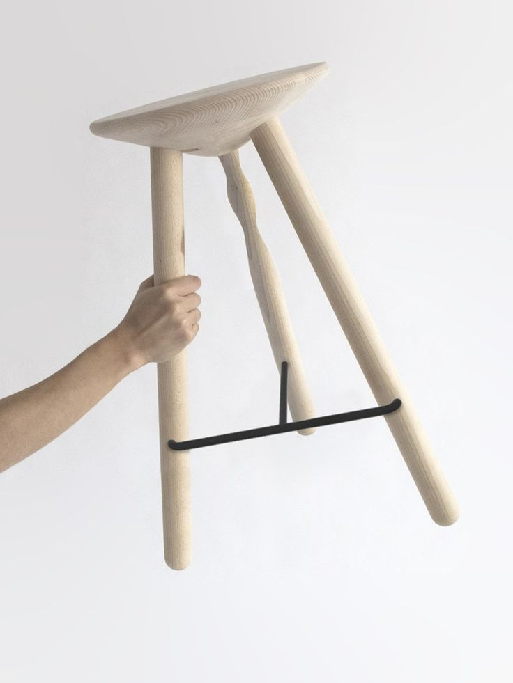 Wooden stool LUCO by Mobles 114 | #design Martín Azúa @mobles114