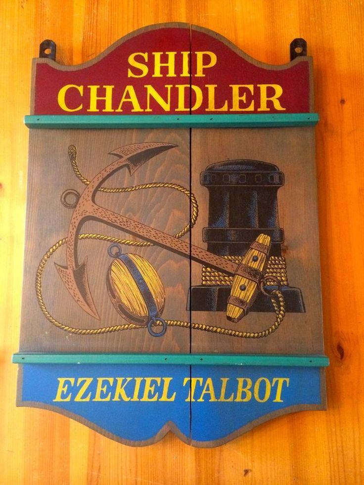 Vintage Ship Chandler Store Sign Ezekiel Talbot Yorkraft