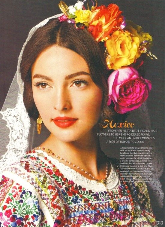 mexican inspired hairstyles | Wednesday Wedding Inspiration: A Mexican Adventure | Bespoke-Bride ...
