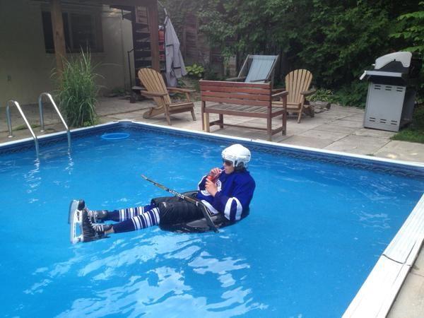 @Dom_Leafs88 (Twitter) #StayCoolThisSummer Contest Finalist! #Leafs #Hockey #Sunglasses #Pool