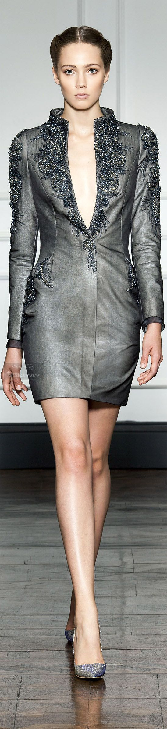 (Dilek Hanif F/W 2014-15) Grey is more forgiving than black, and may often…