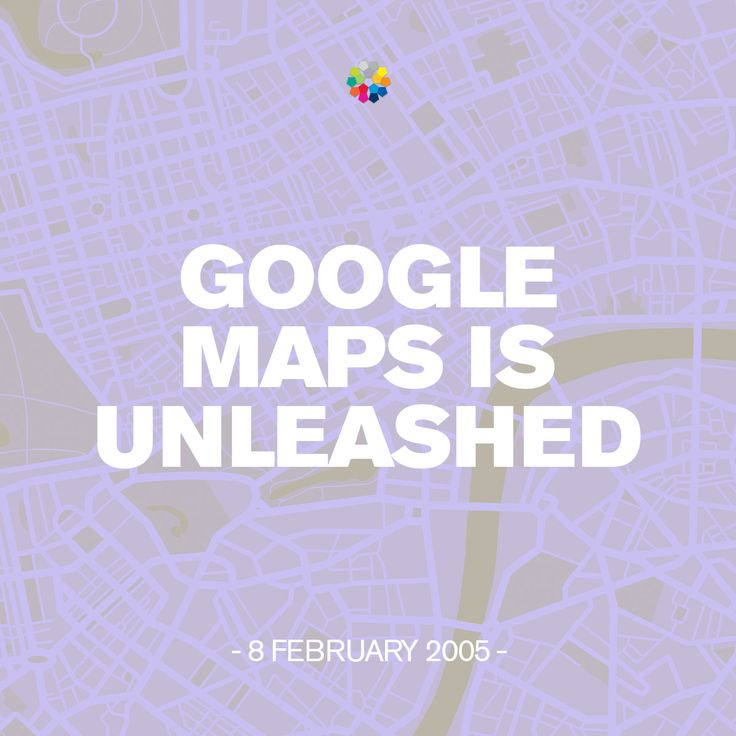 Google Maps launched in the US on 8 February 2005 and in the UK two months later. #googlemaps #birthday