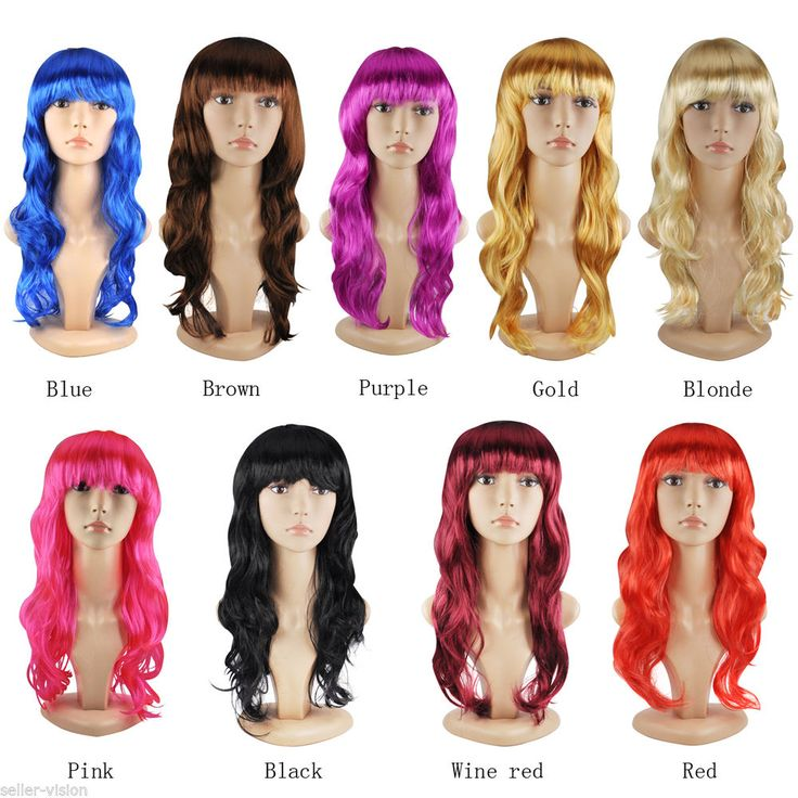 Women Sexy Long Curly Fancy Dress Wigs Cosplay Costume Full Wig Party #SellerVision #FullWig