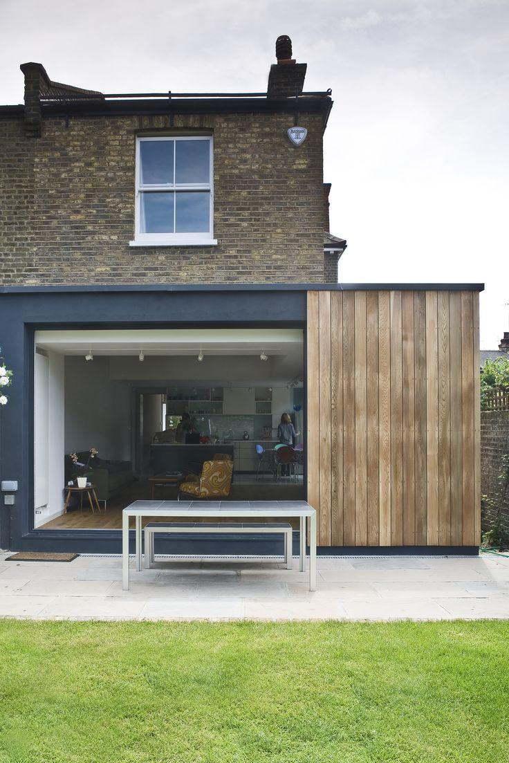kitchen extension , sliding doors and cedar cladding by Alex Findlater. http://alexfindlater.com