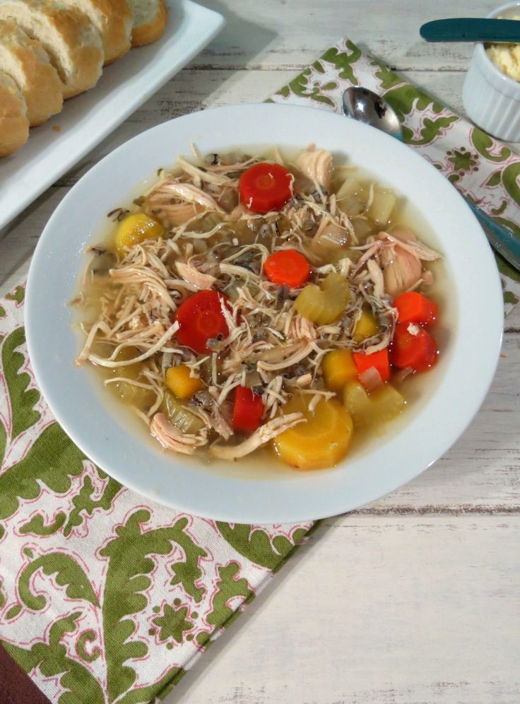 Chicken and Wild Rice Soup in Crockpot –
