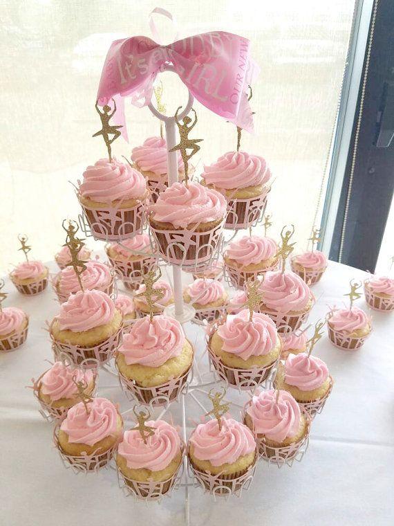 Pink Dress Ballet Dancer wrapper dancing cupcake by BigDayKingdom