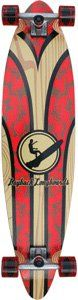 """Layback Longboards Maui Waui Complete Longboard Skateboard - 9.5"""" x 42"""". One (1) Layback Longboards Maui Waui Complete Longboard Skateboard from Layback Longboards. Deck Size: 9.5"""" x 42"""". Factory assembled by Layback Longboards and ready to skate. Includes trucks, wheels, bearings, hardware, and grip tape."""