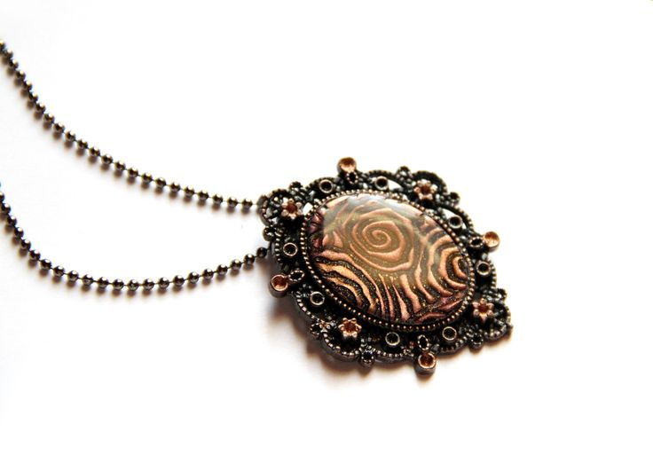 Brown necklace Resin jewelry Brown resin pendant Abstract necklace Cabochon pendant Romantic jewelry Retro style necklace Vintage style gift Available on Etsy! Shop here  https://www.etsy.com/listing/257227662/brown-necklace-resin-jewelry-brown-resin?utm_campaign=crowdfire&utm_content=crowdfire&utm_medium=social&utm_source=pinterest