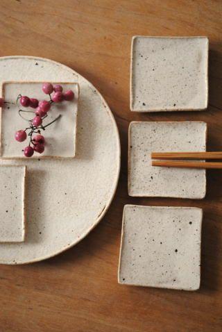 Nice sushi plates - raku? Not in English...
