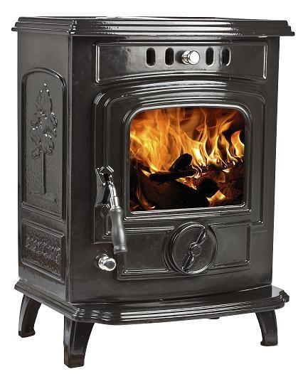 5kW Lilyking 629 Black Enamel Multi Fuel Stove | Buy Traditional Multi Fuel Stoves Online | UK Stoves £619.00