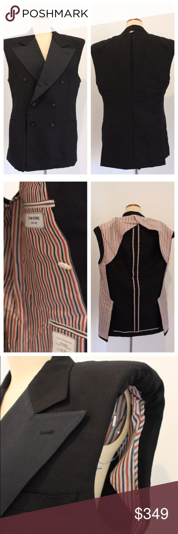Thom Browne Men's Formal Vest Size 2 Authentic Thom Browne Formal Vest (sleeveless jacket) size 2(men's medium) in excellent condition. Just a few times worn. Thom Browne Jackets & Coats Vests