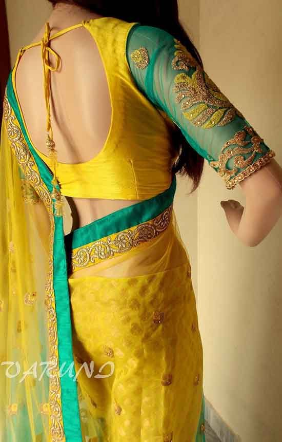 Saree Blouse Collection For Women 2014/15 By Varuni Gopen | Fashionrely
