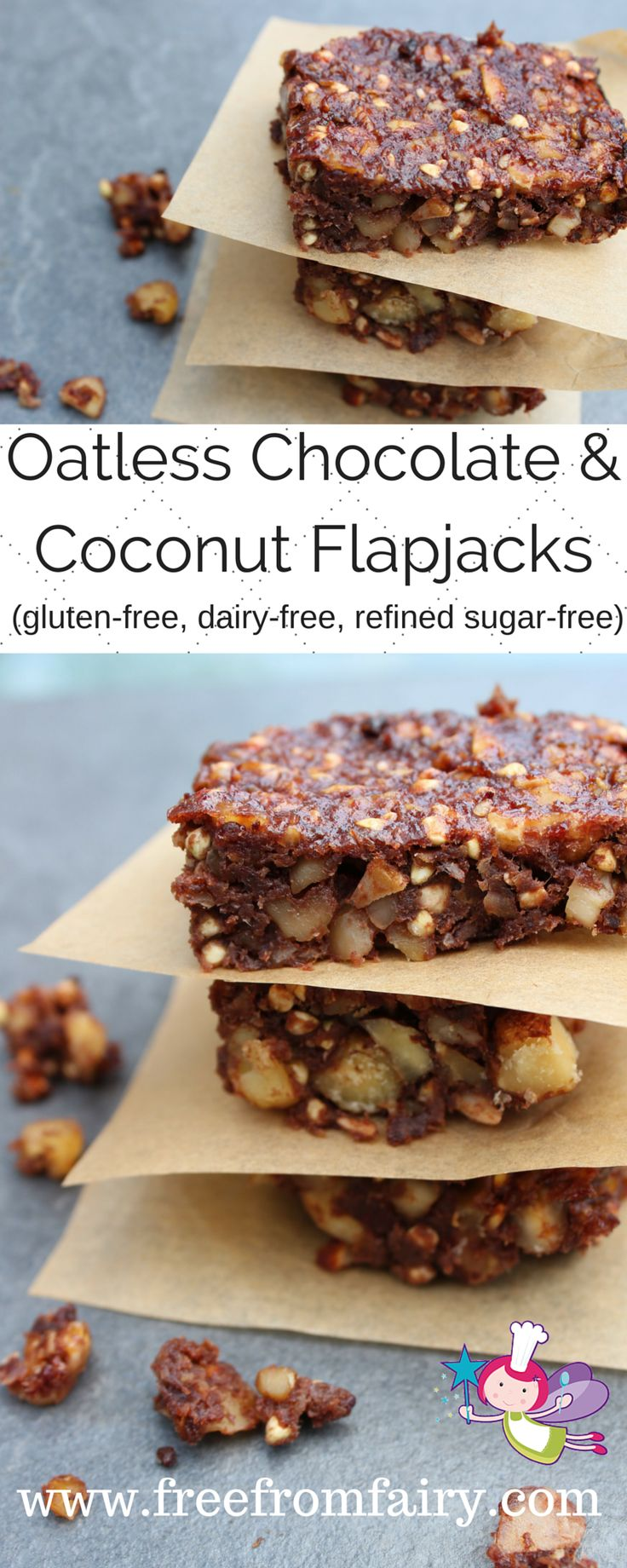 Gluten-free dairy-free egg-free soya-free refined sugar-free easy peasy oatless flapjacks!