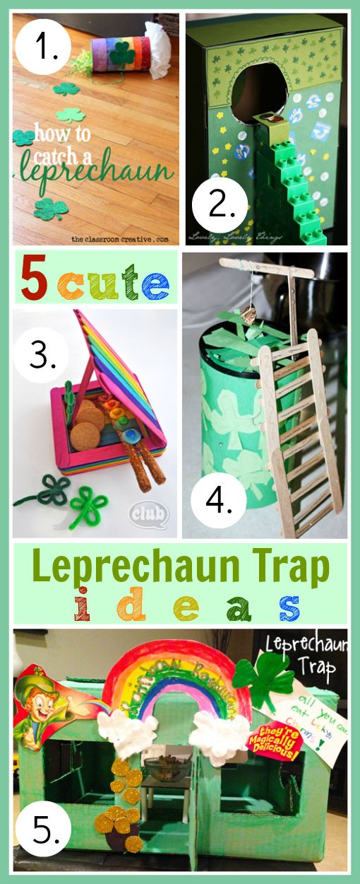 5 Easy Leprechaun Trap Ideas #StPatricksDay #Leprechaun