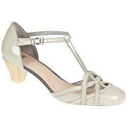 Camper Female Ariadna Leather Upper Leather Lining in Pearl CAMPER SHOES - A pretty, feminine sandal with a wooden heel and a very flexible sole. Buckled sandal in light pearl white patent leather, with a wooden heel and rubber sole. http://www.comparestoreprices.co.uk/ladies-shoes/camper-female-ariadna-leather-upper-leather-lining-in-pearl.asp
