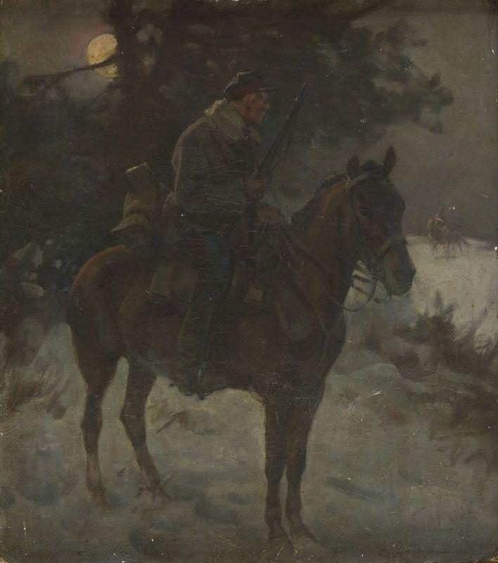 Ignacy Zygmuntowicz - Ułan na koniu
