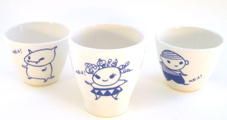 Brokiga cups by Nikko
