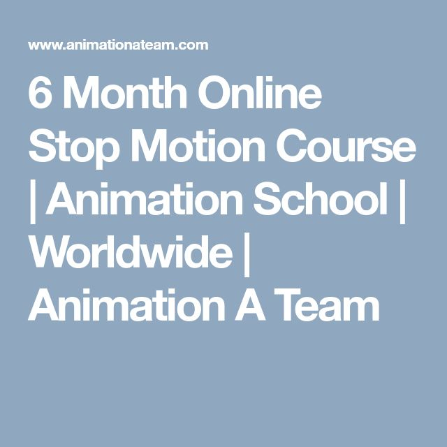 6 Month Online Stop Motion Course | Animation School | Worldwide | Animation A Team
