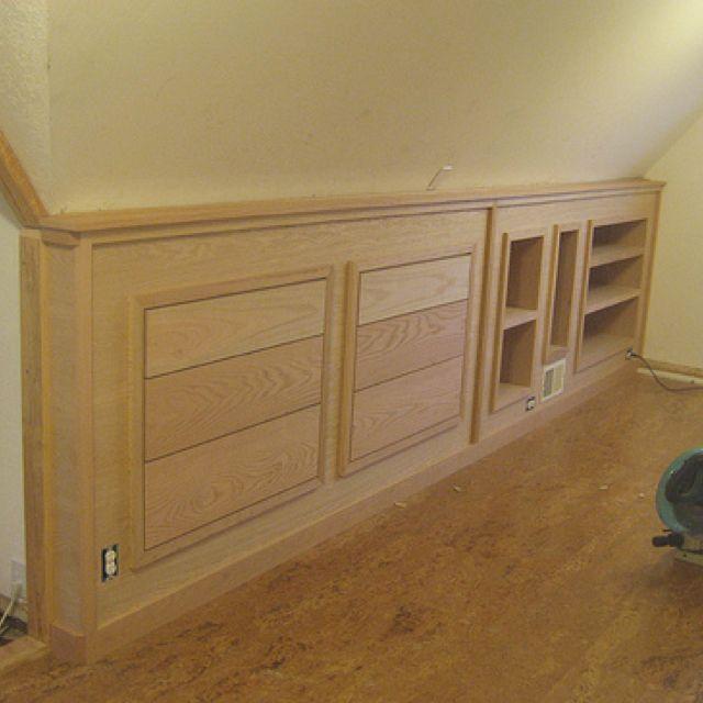 Knee wall storage. Future bedroom remodel idea for closet walls.