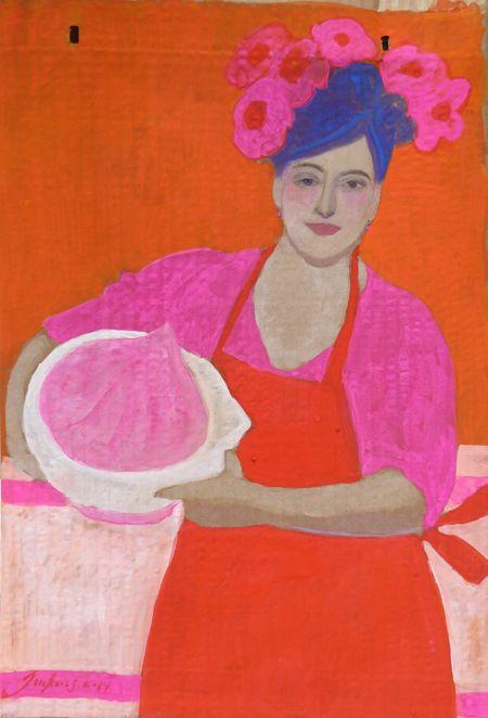Elisabeth Jonkers, Envelop 2 Merigue, Acryl op karton (zonder lijst), 35x24 cm, €.125,-
