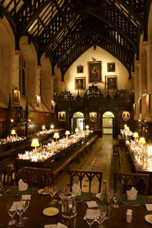 Oxford-Christ's Church:Oxford dining hall