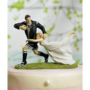 Figurine pièce montée marié rugbyman - à l'unité