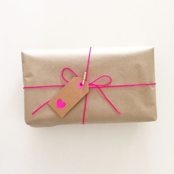 Neon pink cord for craft + gift wrapping