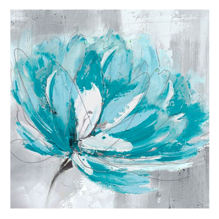 Turquoise Painting on Canvas. Dimensions: 1000x1000mm. $189