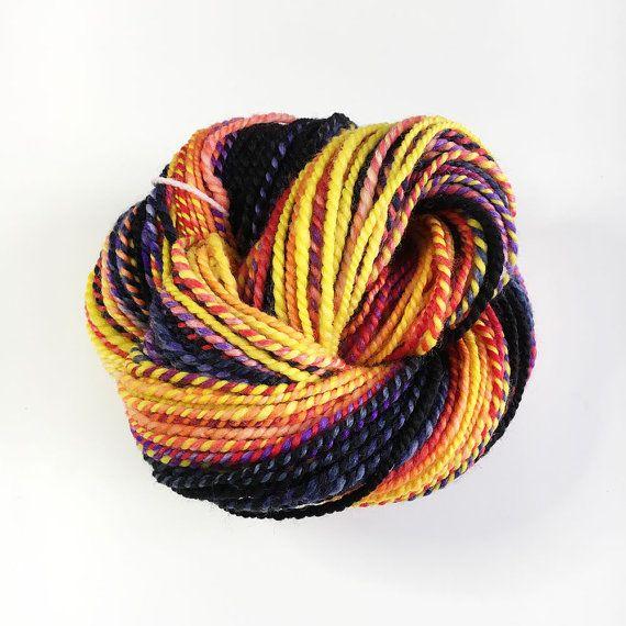 Handspun Superwash Merino and Nylon Yarn for by Artyfibres on Etsy