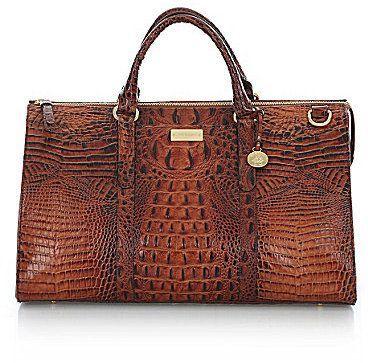 Brahmin Brahmin Melbourne Collection Anywhere Croco Embossed Weekender Bag 425 00 Brahmin Handbags Weekender Bag Bags