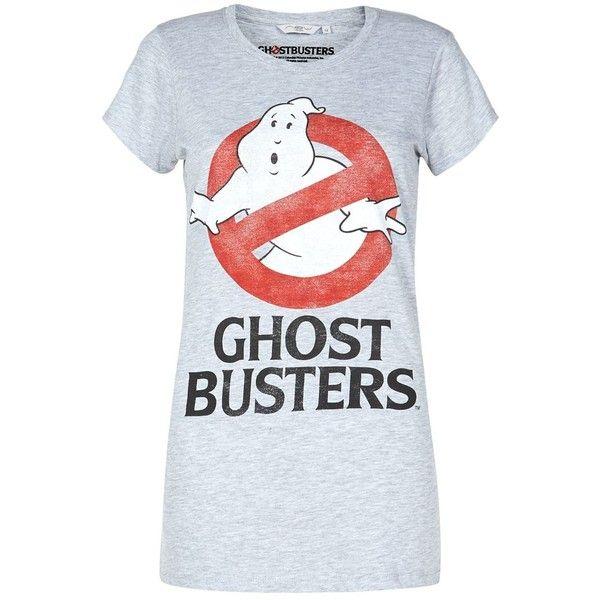 Pale Grey Ghostbusters T-Shirt (9.98 CAD) ❤ liked on Polyvore featuring tops, t-shirts, shirts, lullabies, shirt top, short-sleeve shirt, light grey t shirt, light gray t shirt and light gray shirt