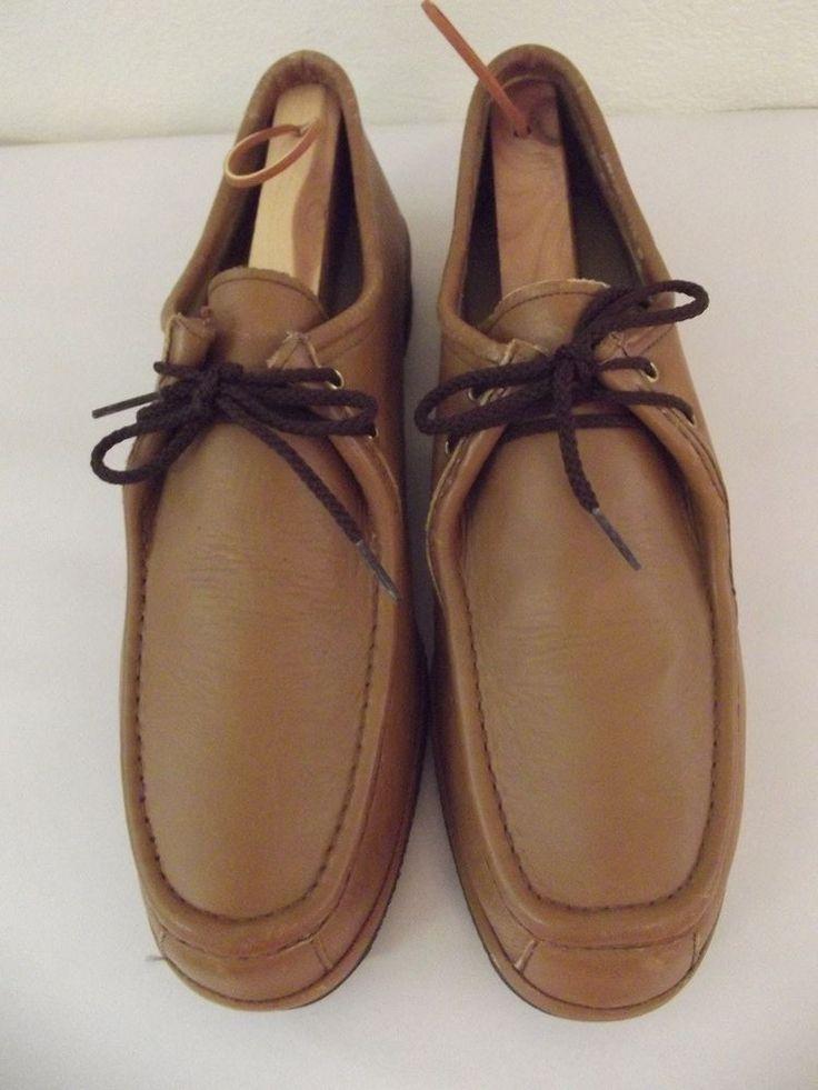 Vtg Johnston & Murphy AFTER HOURS size 12N Caramel Brown Casual Shoes.......92V #JohnstonMurphy #Oxfords
