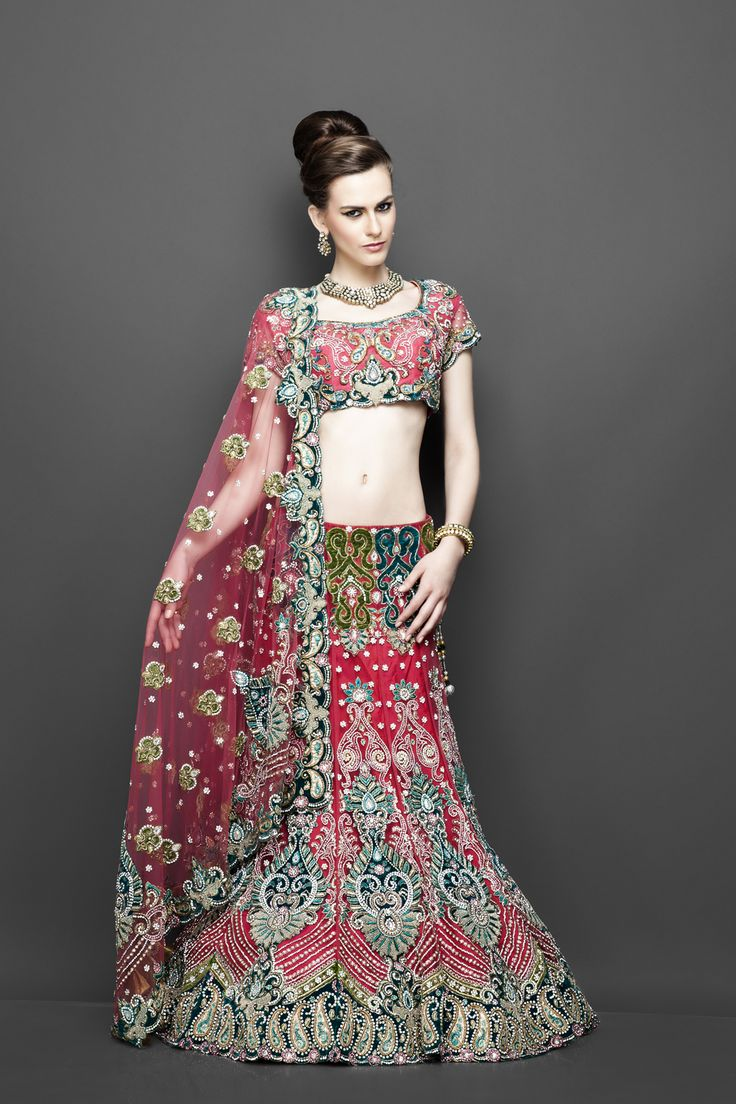 Bollywood style ethnic Indian bridal dresses