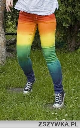 rainbow jeans pants  http://brilliantideasoldandnew.blogspot.com/-Mollie x