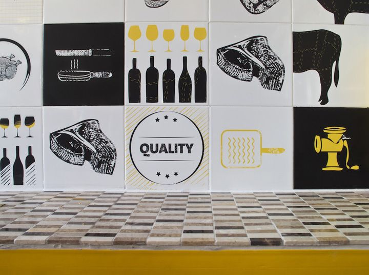 Amigos meat store by Ron Bliberg, Isreal store design