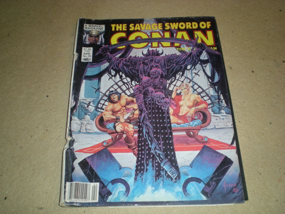 Comic Magazines Marvel Magazine The Savage Sword of Conan The by HeroesRealm $5.99 @https://www.etsy.com/shop/HeroesRealm