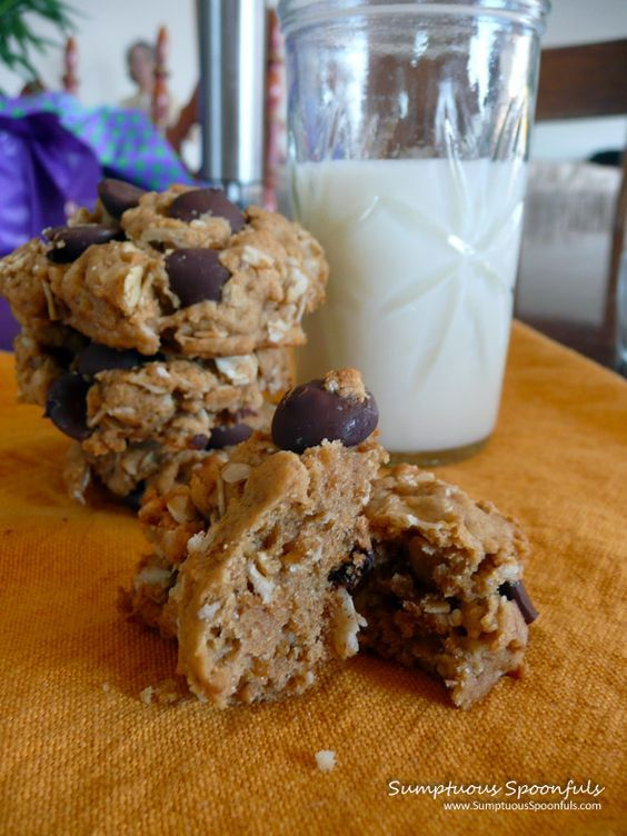 Peanut Butter Oatmeal Chocolate Chip Cookies ~ Sumptuous Spoonfuls