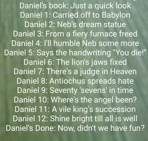 story of daniel in the bible summary