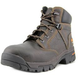sale Timberland Pro Helix Men W Steel Toe Leather Brown Work Shoe