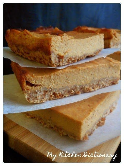My - Kitchen - Dictionary: B come Barrette di Cheesecake alla Zucca